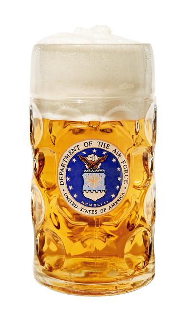 Authentic 1 Liter Oktoberfest Beer Mug with USAF Seal