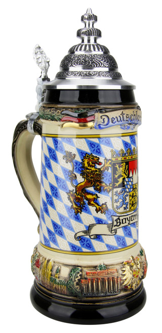 Bayern Coat of Arms Deutschland Beer Stein