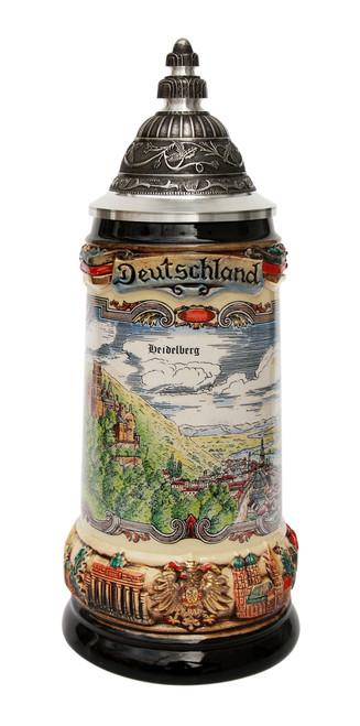 Deutschland Heidelberg Panorama Beer Stein