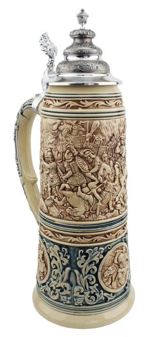 King Limitaet 2016 | Battle of Teutoburg Forest Antique Style Beer Stein Brown