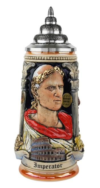 Italian Emperor Imperator Caeser Beer Stein