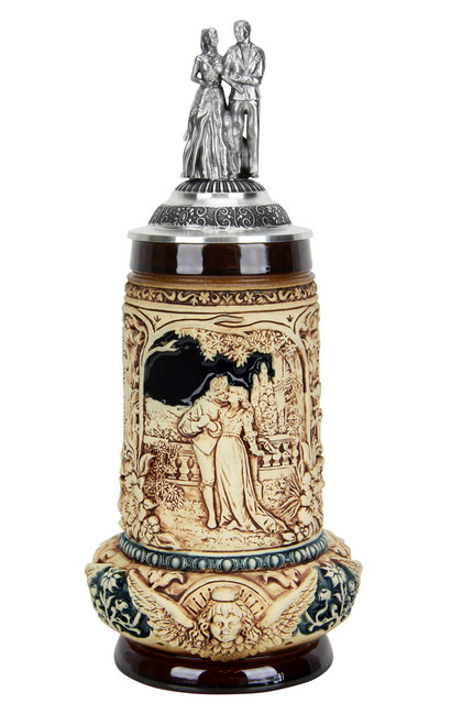 Traditional Hand Painted German Wedding Beer Stein