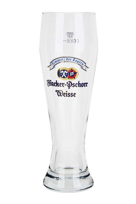 .5 Liter Wheat Beer Glass with Authentic Hacker Pschorr Logo