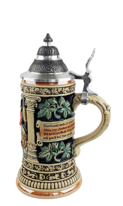 German Beer Stein with German Poem