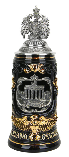 Berlin Germany Eagle Handle Beer Stein with Eagle Lid