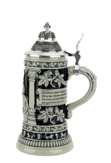 Gambrinus The Beer King Stein Cobalt | 0.3 Liter