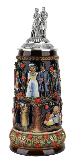 Authentic German Stein with Lid is a Great Gift for a Wedding