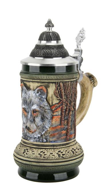 Wolf Beer Stein