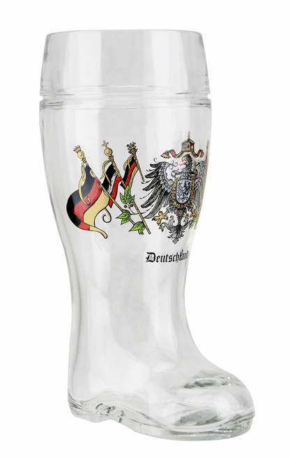 Personalized Deutschland Eagle and Flags Beer Boot Mug