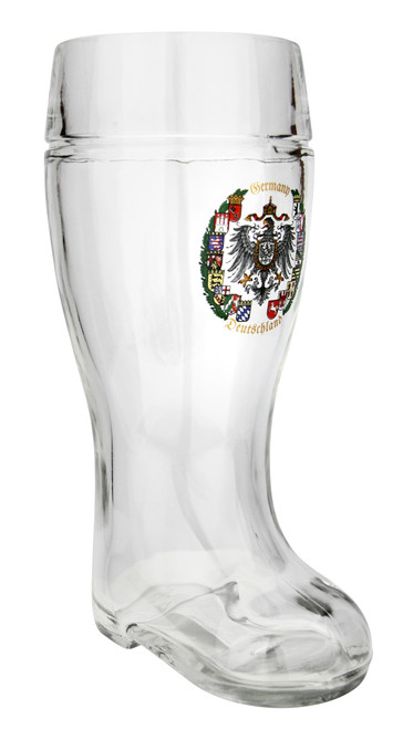 1 Liter Beer Boot with German Crest