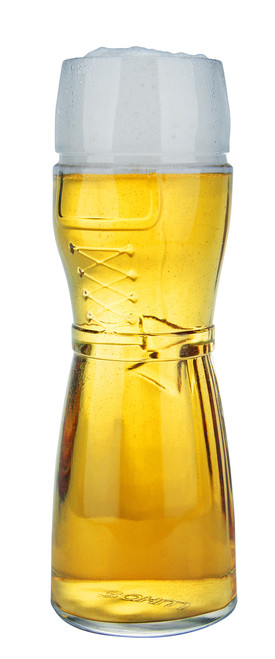 Traditional Dirndl German Wheat Beer Glass