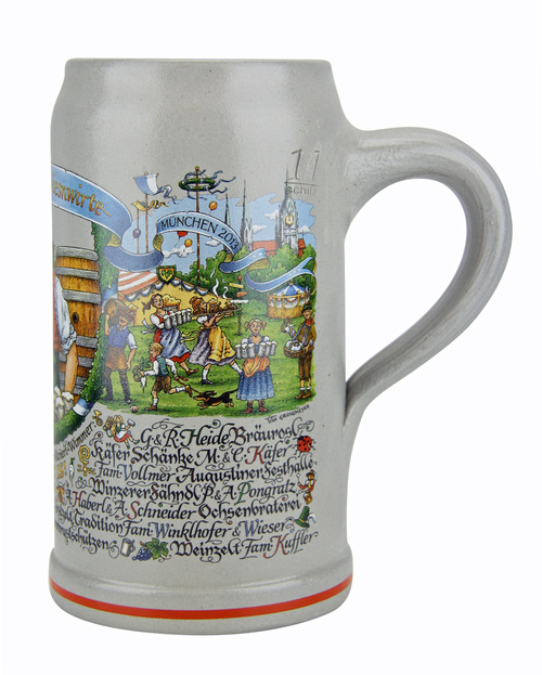 Traditional Oktoberfest 1 Liter Ceramic Mug
