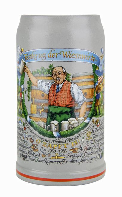 Wirtekrug 1 Liter Ceramic Beer Mug