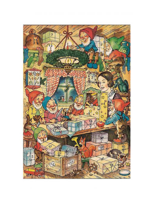 Snow White and the Seven Dwarves Small German Christmas Advent Calendar