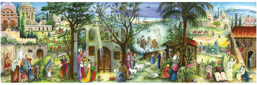 German Christmas Advent Calendar Bethlehem Panorama