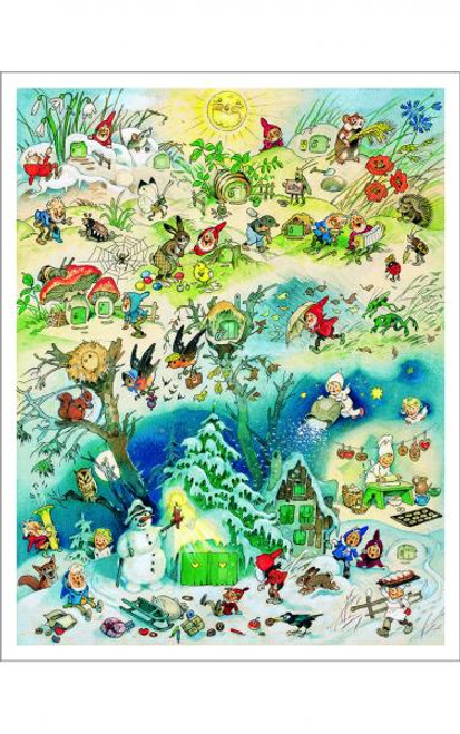 Large German Advent Calendar of Four Seasons
