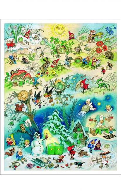 Large German Advent Calendar of Four Seasons