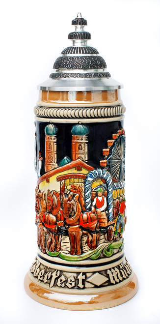 Authentic German Oktoberfest Beer Wagon Stein