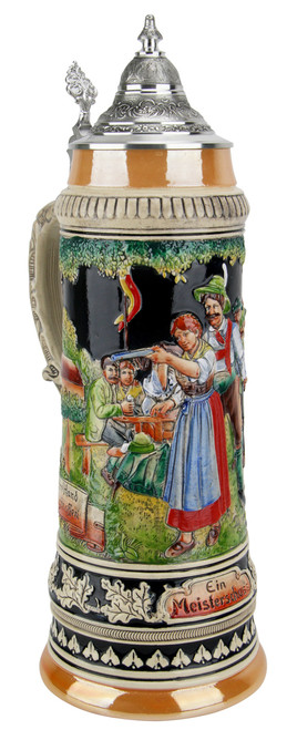 A Masterful Shot Traditional Style 2 Liter Beer Stein