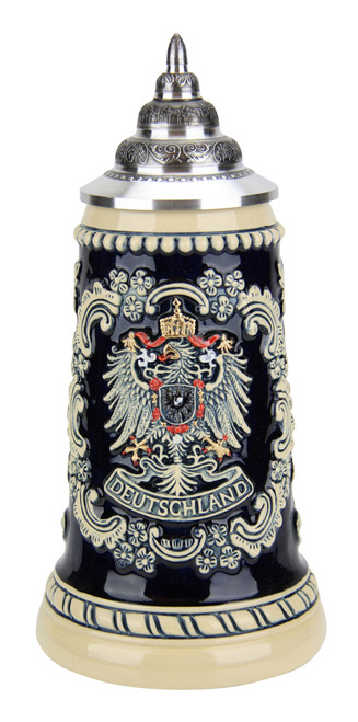 Deutschland Eagle Cobalt Beer Stein