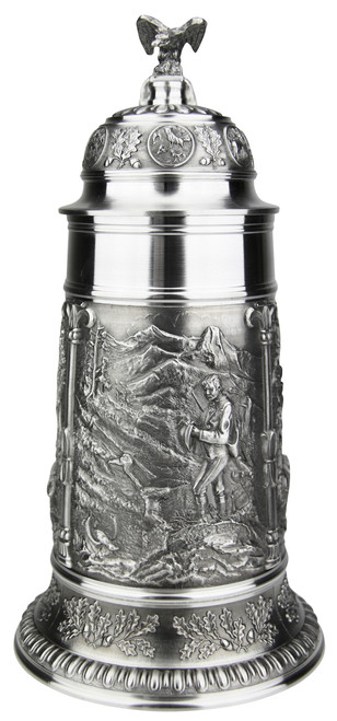 Marksman Hunter Pewter Beer Stein 1 Liter