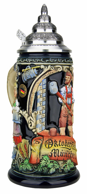 Authentic German Beer Stein King Werk 3/4 Liter
