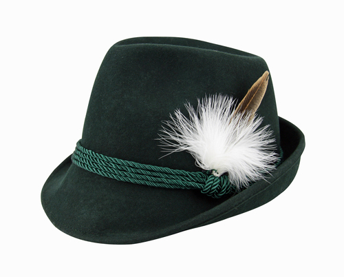 Green Tyrolean Hat with Feather