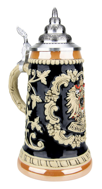 Deutschland Eagle Cobalt Gold Multi Color Beer Stein