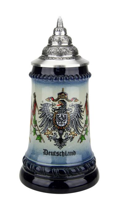 German Eagle and Crown Coat of Arms Beer Stein | 0.25 Liter