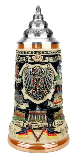 German Traveler Beer Stein