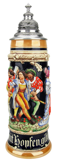 The Freeloader Traditional Style Beer Stein   2 Liter