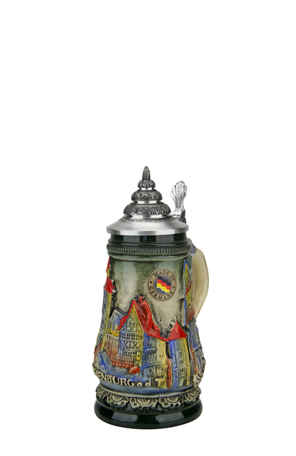 Limited Edition Mini German Stein with Pewter Lid