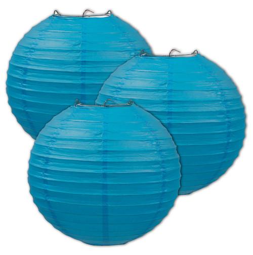 Oktoberfest Party Paper Lantern Decoration Blue 3 pack