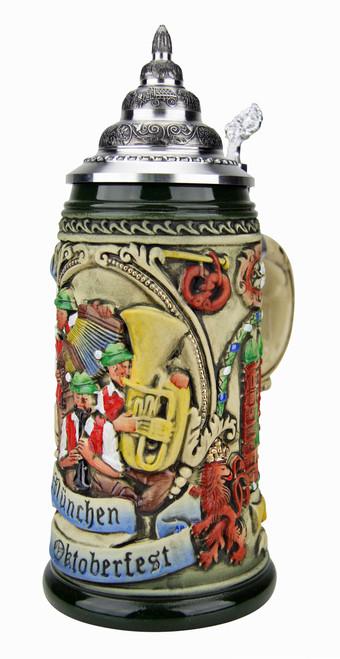 Oktoberfest Oompah Band Beer Stein Rustic | 0.4 Liter