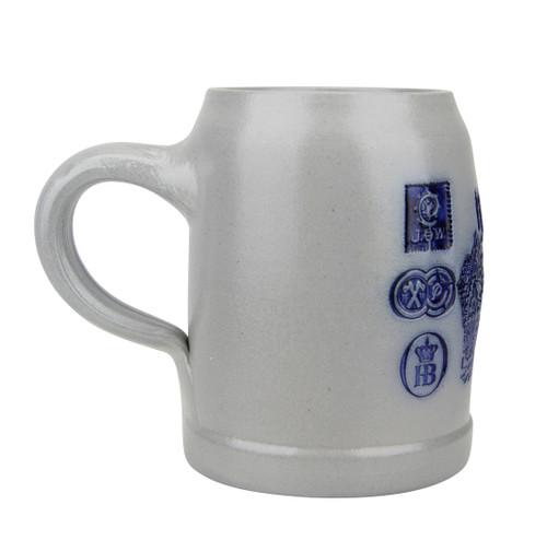 Munich Breweries 0.5 Liter Salt Glaze Stoneware Beer Mug
