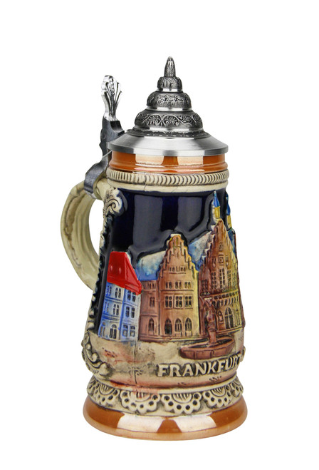 Mini German Stein with Vignette of Frankfurt aM
