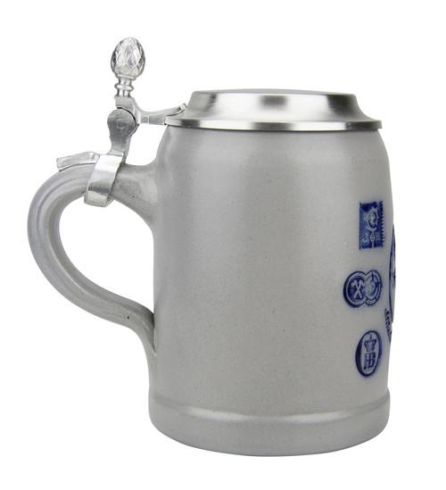 Munich Purity Law 1487 0.5 Liter Salt Glaze Stoneware Beer Stein