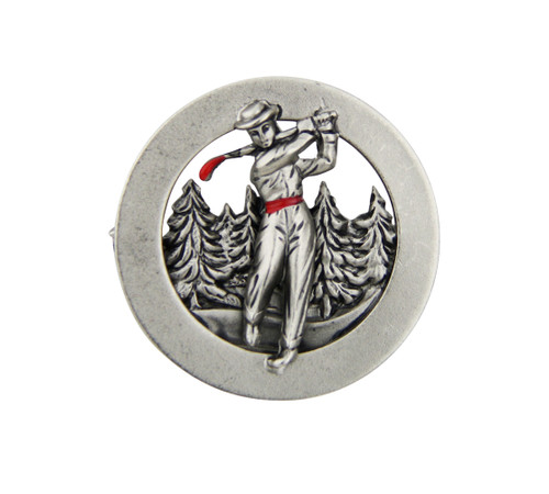 Golfer German Hat Pin