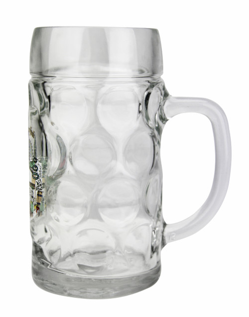 Personalized 0.5 Liter Oktoberfest Beer Mug with Munich Painting
