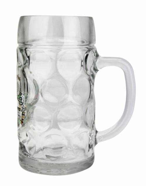 Personalized 0.5 Liter Oktoberfest Beer Mug with Munich Painting