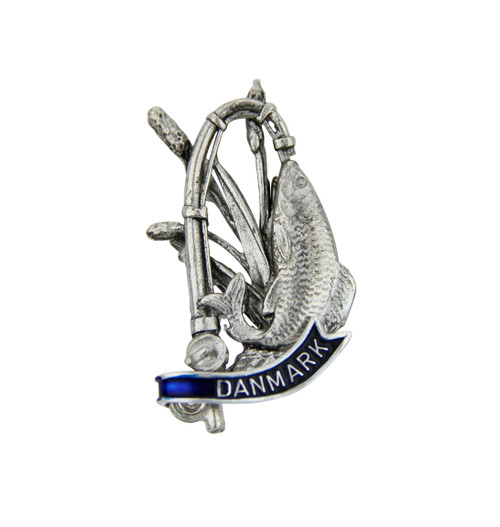 Denmark | Fishing German Hat Pin