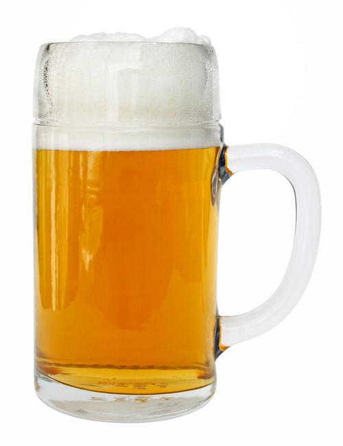 Left Side View, Styria Smooth Body Oktoberfest Glass Beer Mug 1 Liter