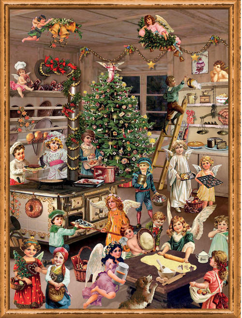 Victorian Christmas Angels Baking German Advent Calendar