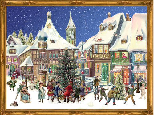 Victorian Town in Winter German Advent Calendar