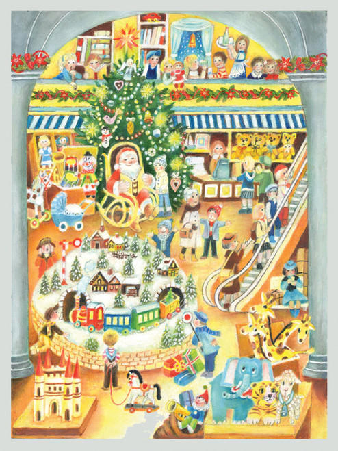 Santa's Toy Shop German Advent Calendar