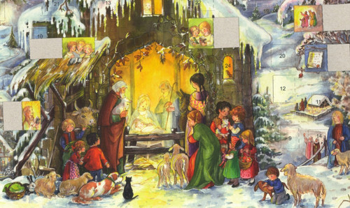 German Advent Calendar Showing Open Windows