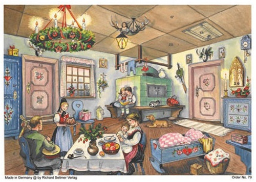 Cozy Christmas Home Scene German Advent Calendar