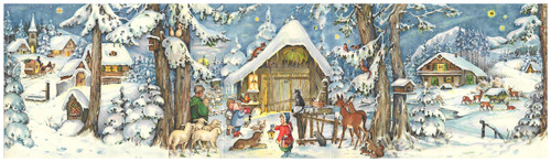 "27"" Wide Journey to the Stable German Advent Calendar"