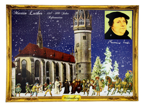 500 Year Anniversary of Martin Luther Reformation German Advent Calendar