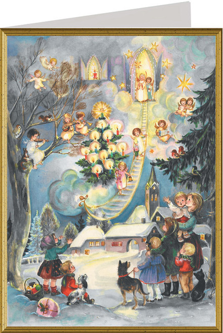 Angel German Christmas Card